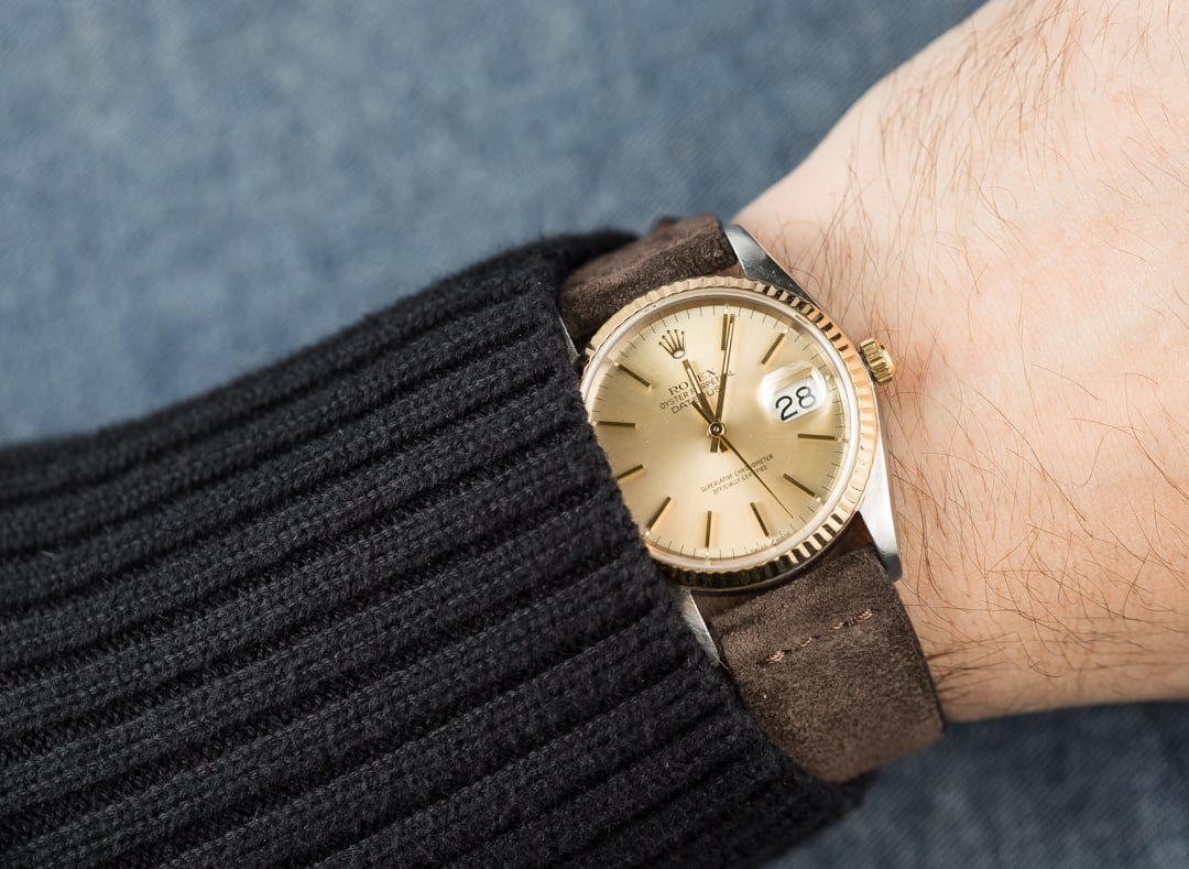 Rolex Datejust Gold Leather Strap
