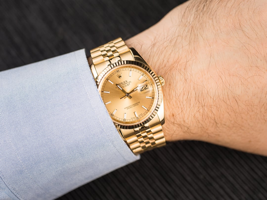 Rolex Datejust 36mm On Wrist