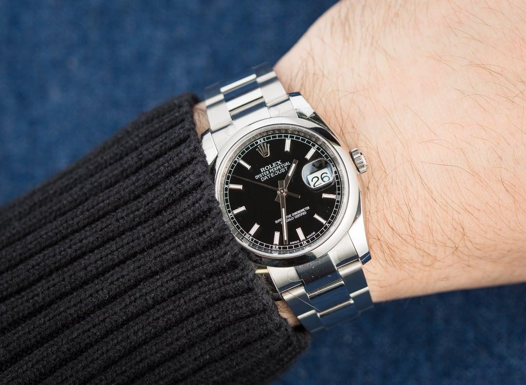 rolex datejust black dial on wrist wwwpixsharkcom