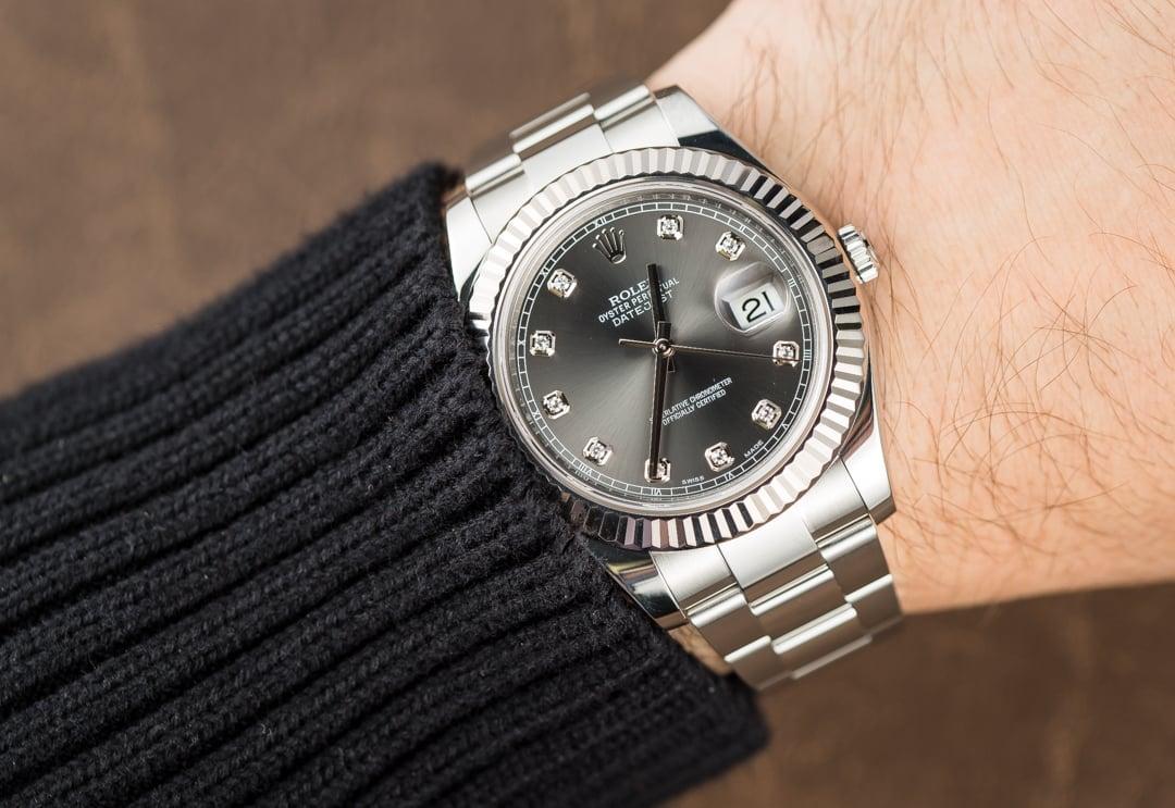 Rolex Datejust II 116334 Rhodium Diamond