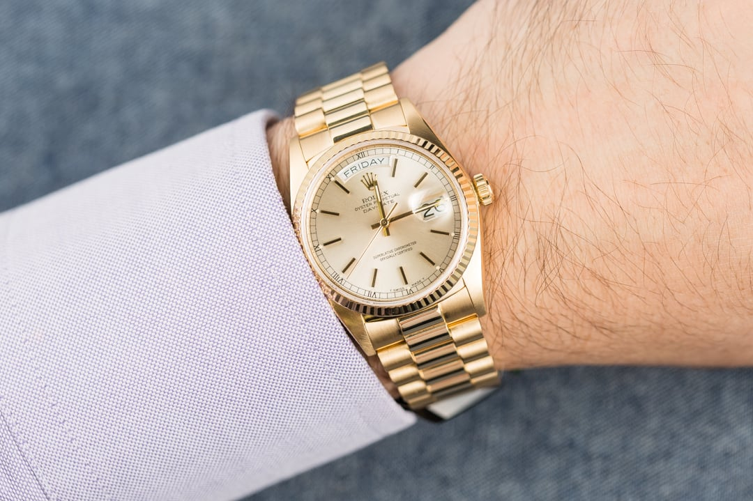 Rolex Day Date President 18038 Silver Dial