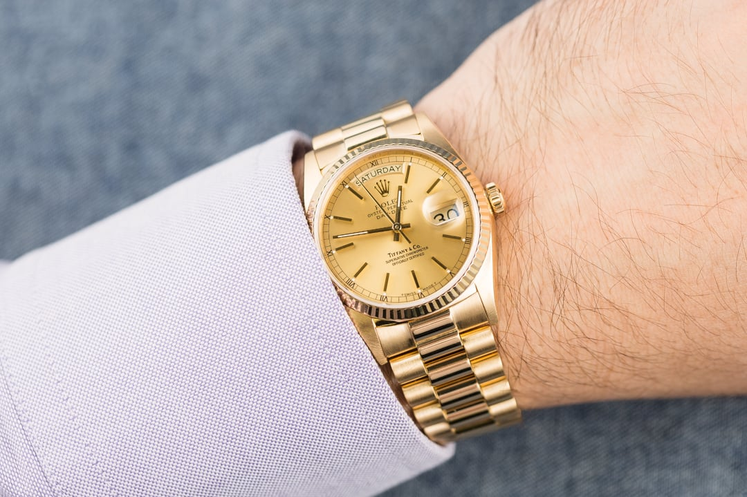 Rolex President Yellow Gold Day Date 18038