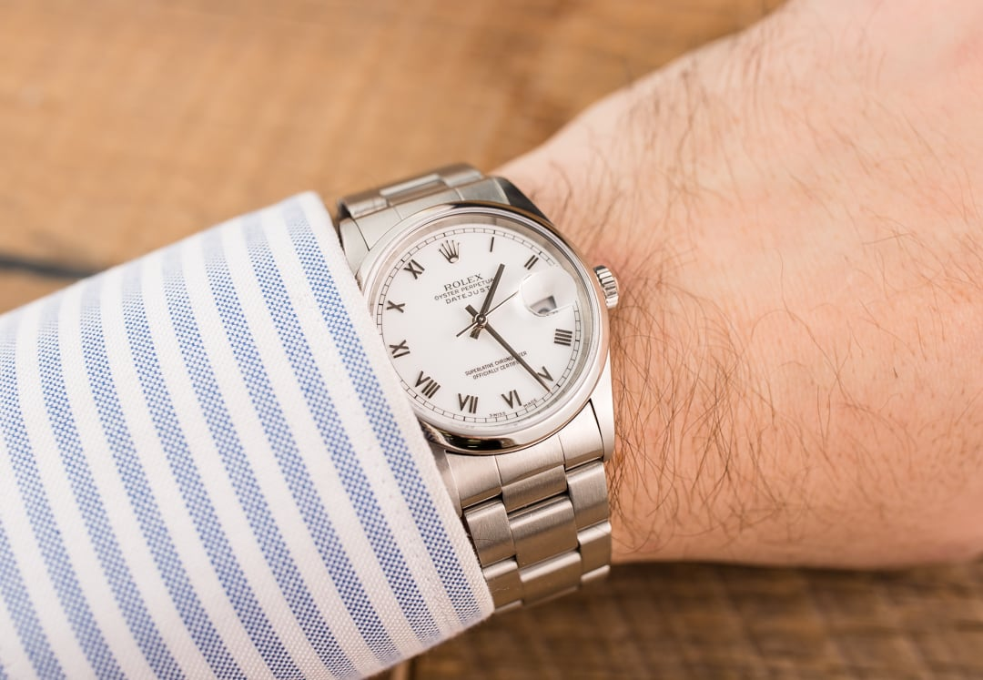 dcebf41778d TT Pre-Owned Men's Rolex Datejust Stainless Steel Watch 16200 T