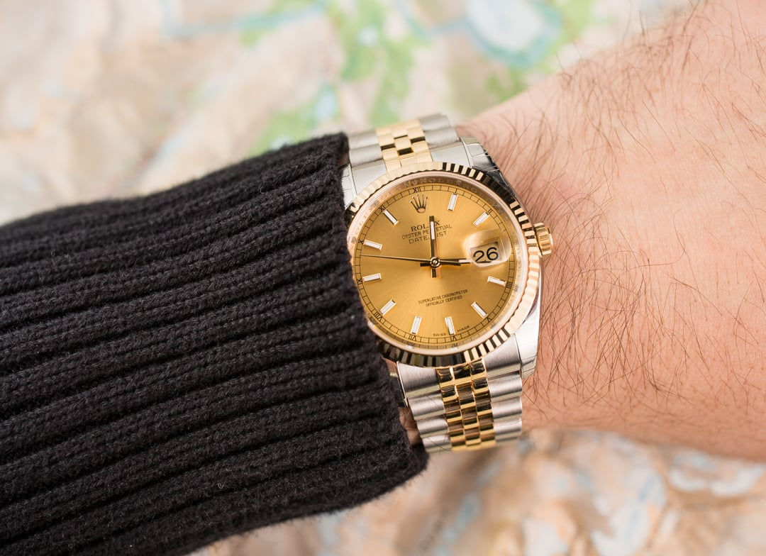 rolex 36mm datejustRolex Datejust 36mm On Wrist