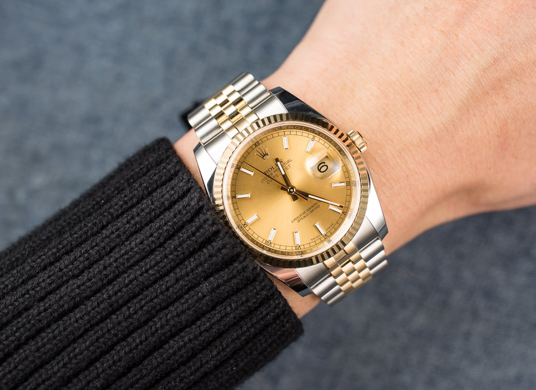 Rolex 36MM Datejust 116233 JubileeRolex Datejust 36mm On Wrist