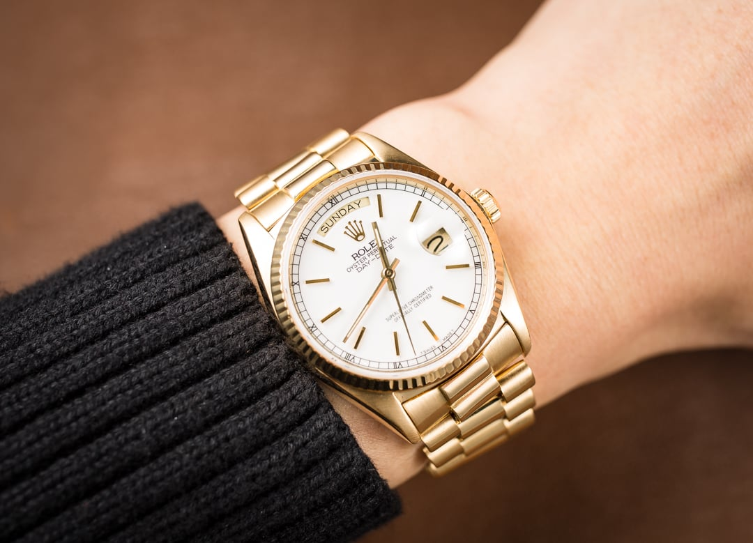 Rolex Day Date Presidential 18038 White Dial