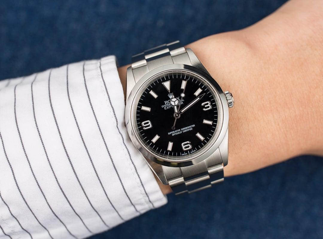 Rolex explorer 114270 men 39 s at bob 39 s watches for Rolex explorer
