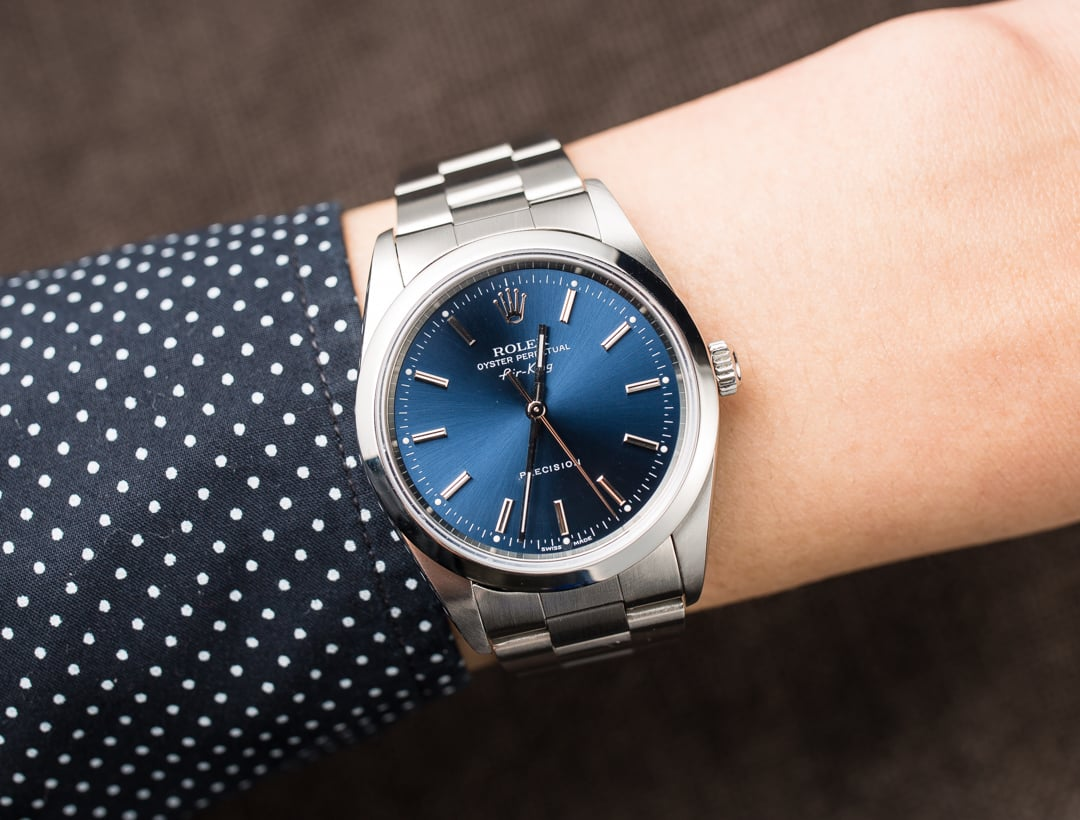 Rolex air king 14000 blue oyster for Rolex air king