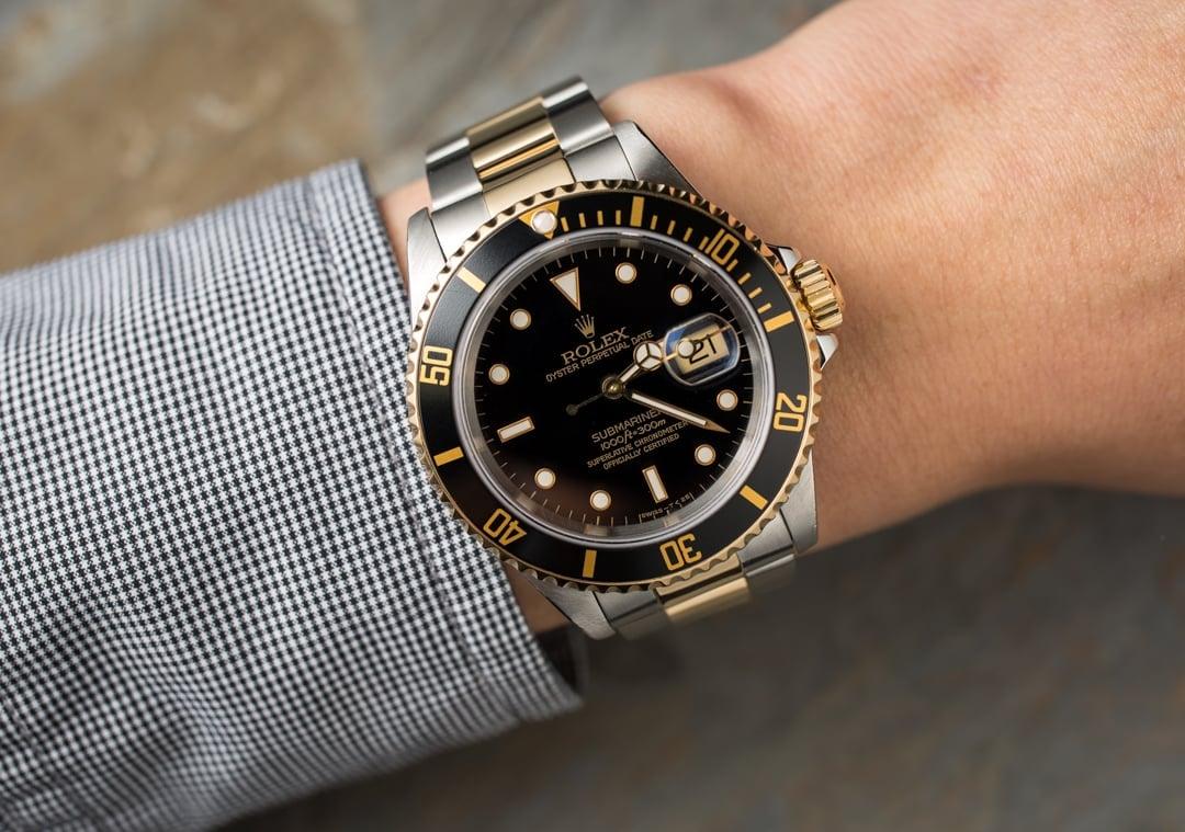 Rolex Submariner Two-Tone 16613 Black Watch