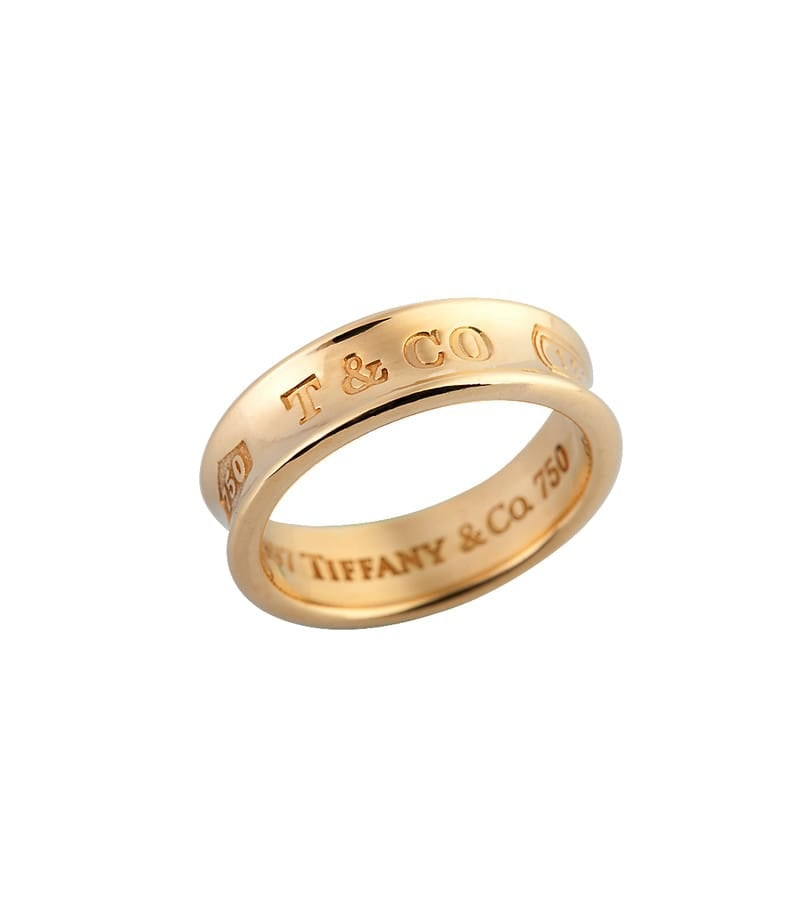 Tiffany & Co. 18k Yellow Gold Band Ring 1837
