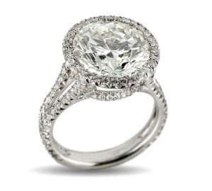 7.05 Carat Round Brilliant Diamond Ring