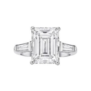 5 Carat Emerald Cut Diamond Ring