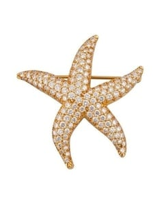 Tiffany Diamond Starfish Pin Brooch