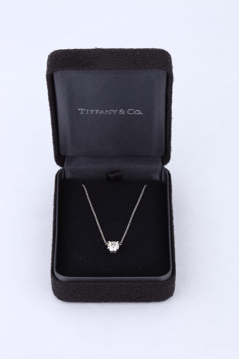 platinum co pendant bow diamond tiffany necklace product