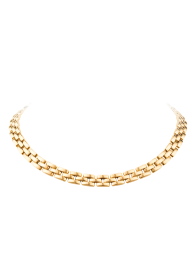 63130a291f9687 Cartier Panther 18k Yellow Gold Necklace