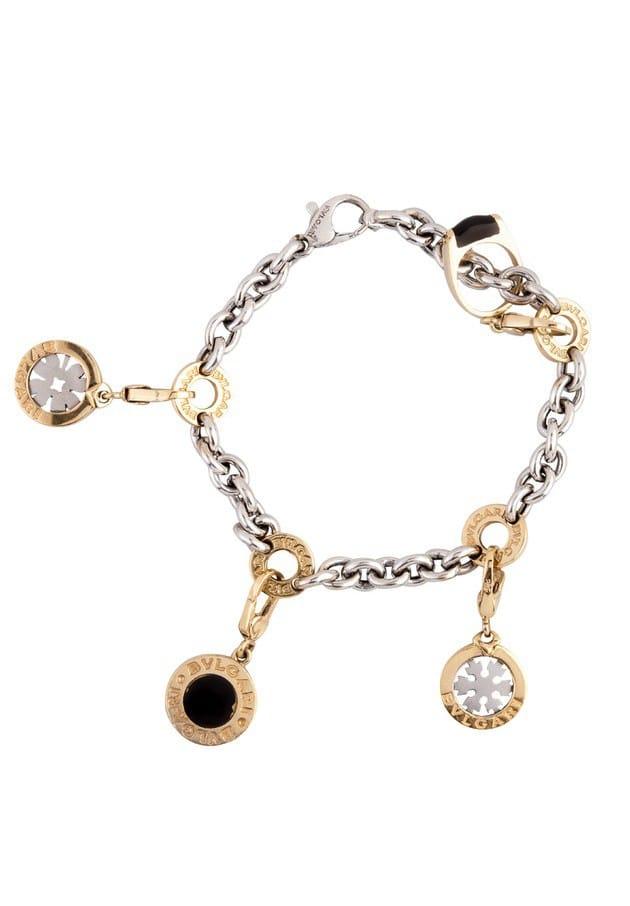 Bvlgari 18k Yellow Gold Charm Bracelet