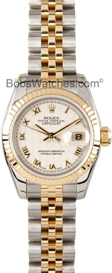 Ladies Rolex Datejust Watch 179173 Pyramid Dial
