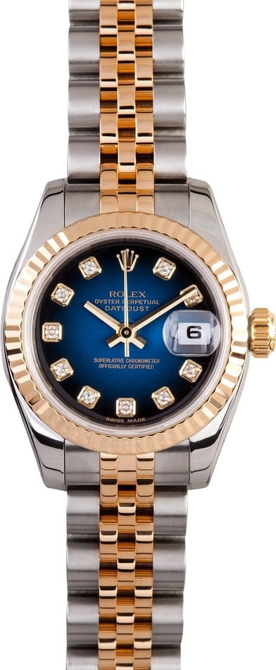 Ladies Used Rolex Datejust Watch 179173
