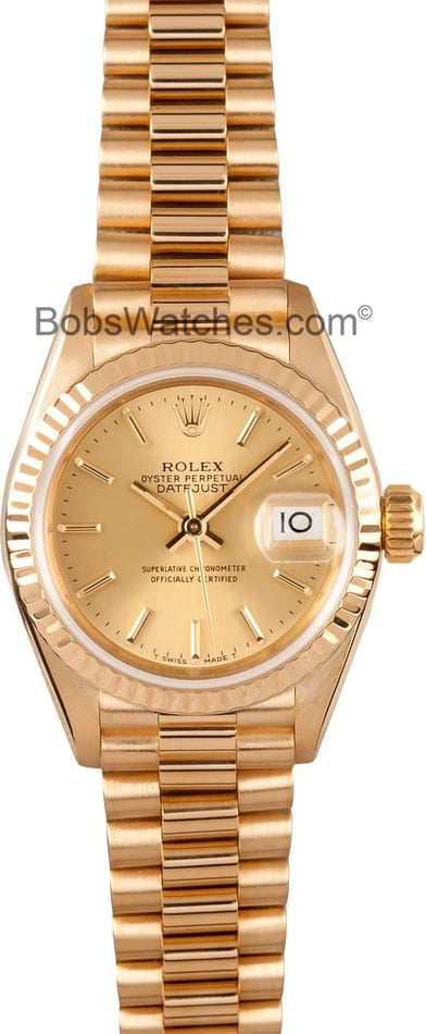 Rolex Ladies 18K DateJust 69178 2