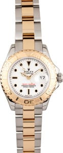 106996 Pre-owned Rolex Yachtmaster Ladies 18k Gold & Steel