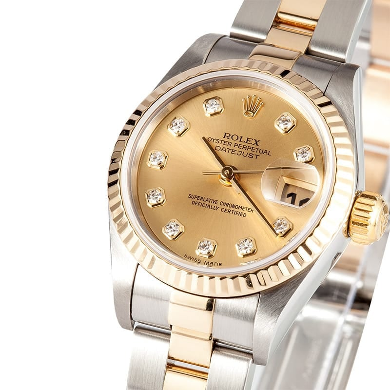 Two Tone Rolex Datejust 79173 Diamond Dial