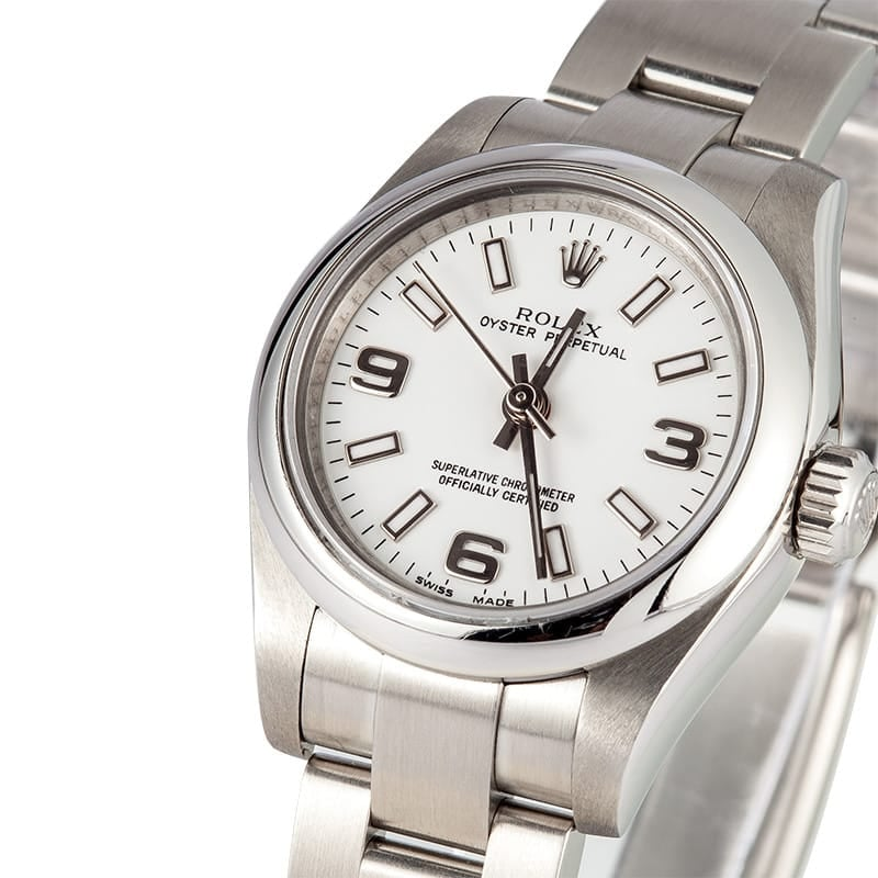 Ladies Steel Oyster Perpetual 177200