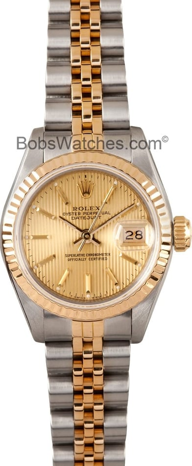 Ladies Rolex Tapestry Dial 69173