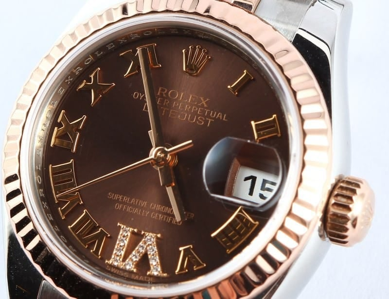 Used Lady Rolex DateJust Rose Gold Jubilee