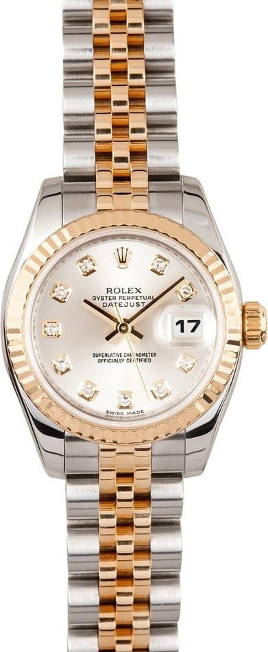 Ladies Rolex Datejust Watch 179173 Diamond Dial