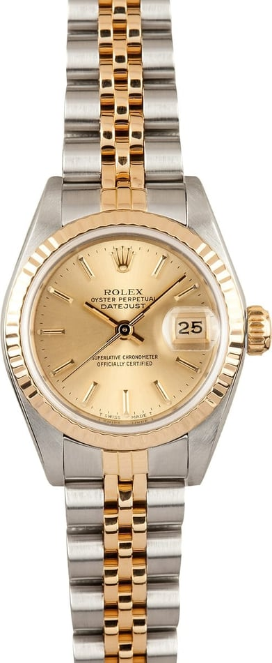 Pre-Owned Ladies Rolex Datejust Champagne 69173