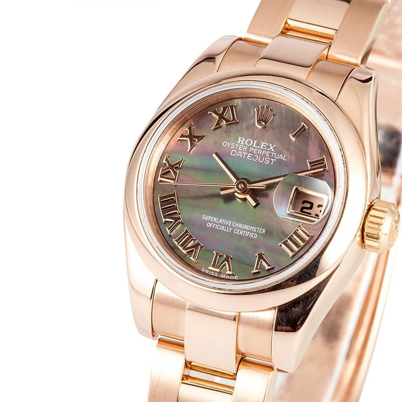 Ladies Rose Gold Datejust 179165