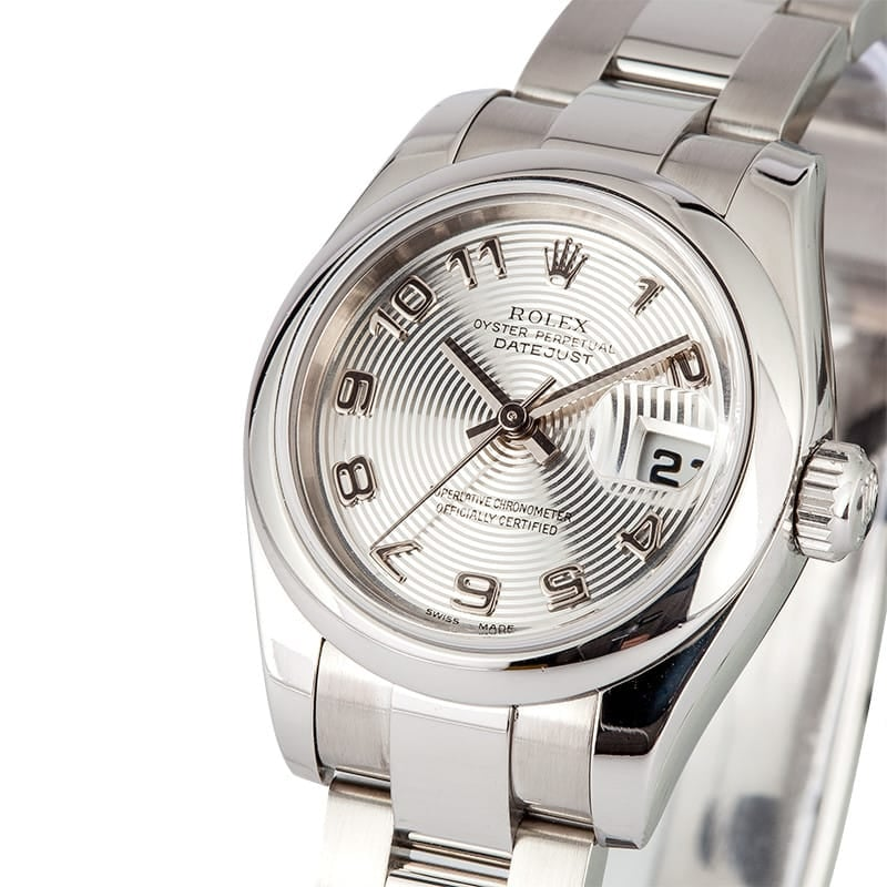 Ladies Rolex DateJust 179160 Silver Concentric