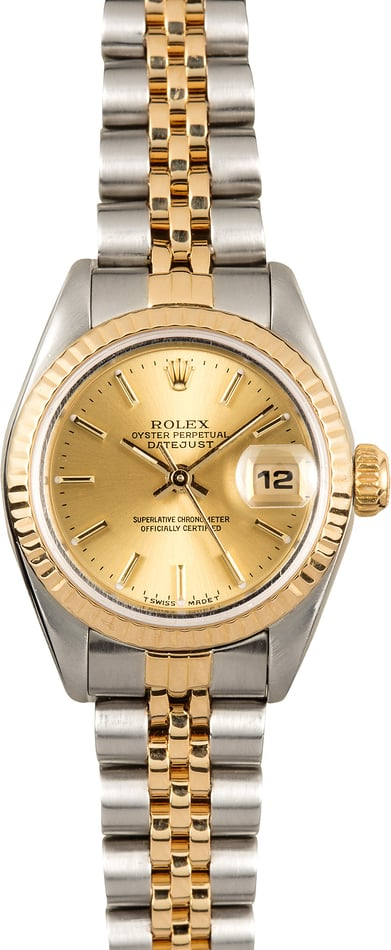 Ladies Rolex Datejust 69173 Steel and Gold