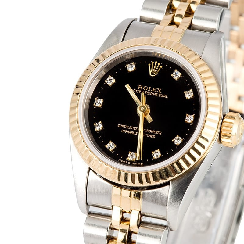 Ladies Rolex Datejust 69163 Diamond Dial