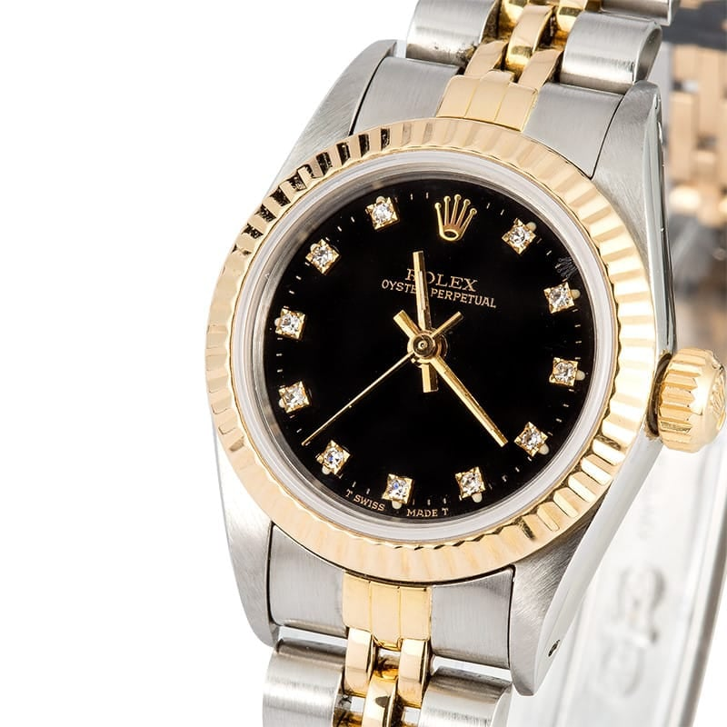 Ladies Diamond Rolex Oyster Perpetual 67193