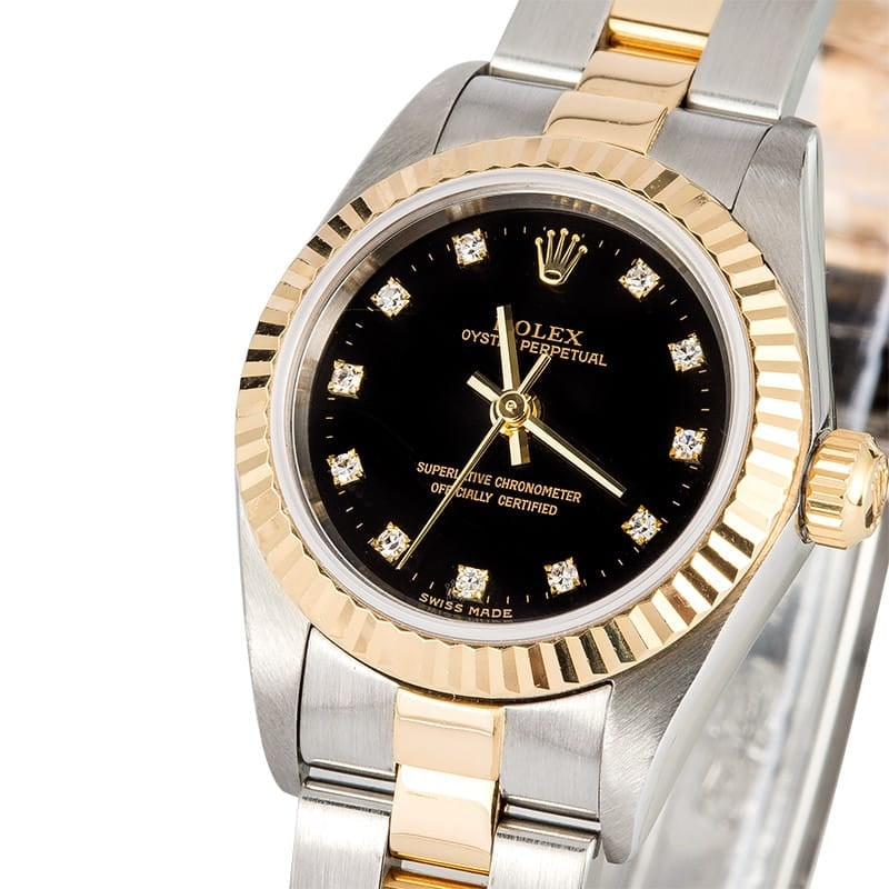 Lady Rolex Oyster Perpetual 76193 Diamond Dial