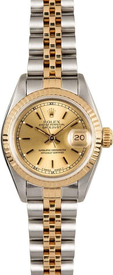 Rolex Lady-Datejust 69173 Champagne Certified Pre-Owned