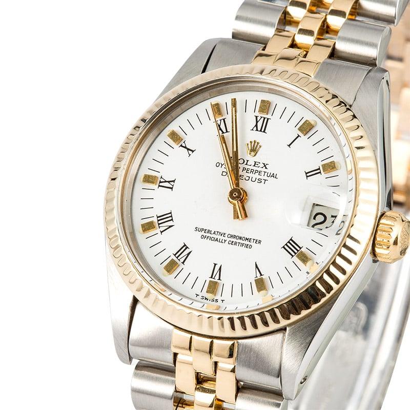 93d545e6f0b Rolex Mid-Size Datejust 6827 Two-Tone Jubilee