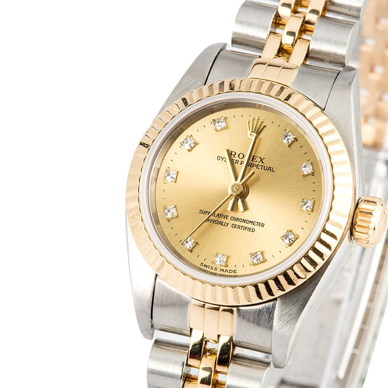 Ladies Oyster Perpetual 79163 Diamond Dial