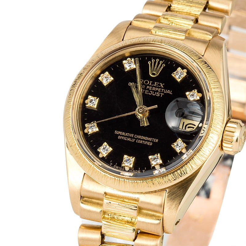 Rolex Ladies President 6927 Diamond Dial