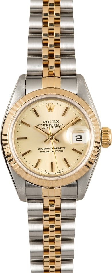 Lady Two Tone Rolex 69173 100% Authentic