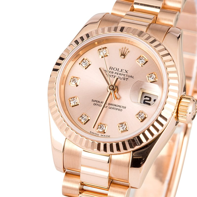 ladies rolex rose gold