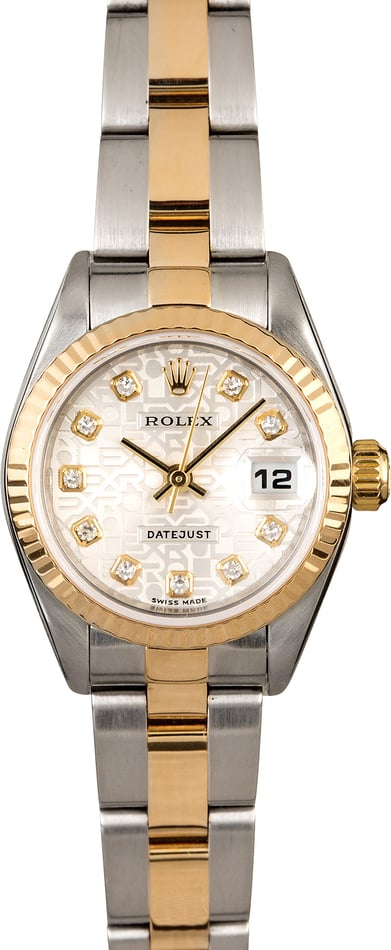 Rolex Ladies Datejust 79173 Silver Jubilee Diamond Dial