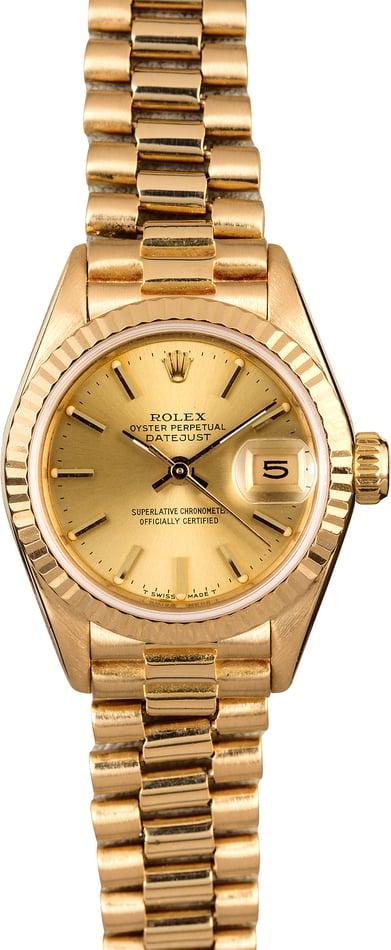 Rolex Ladies President 69178 Champagne Index Dial