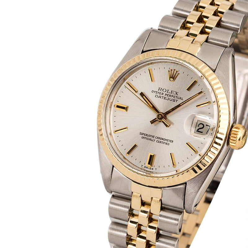 c3935cbcbf2 Mid-Size Rolex Datejust 6827 Two-Tone Jubilee