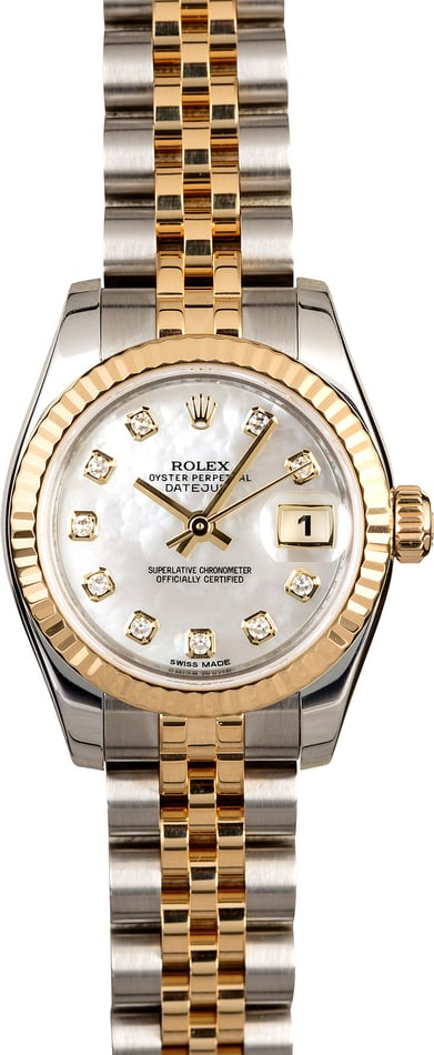 Rolex Ladies Datejust 179173 MOP Diamond Dial