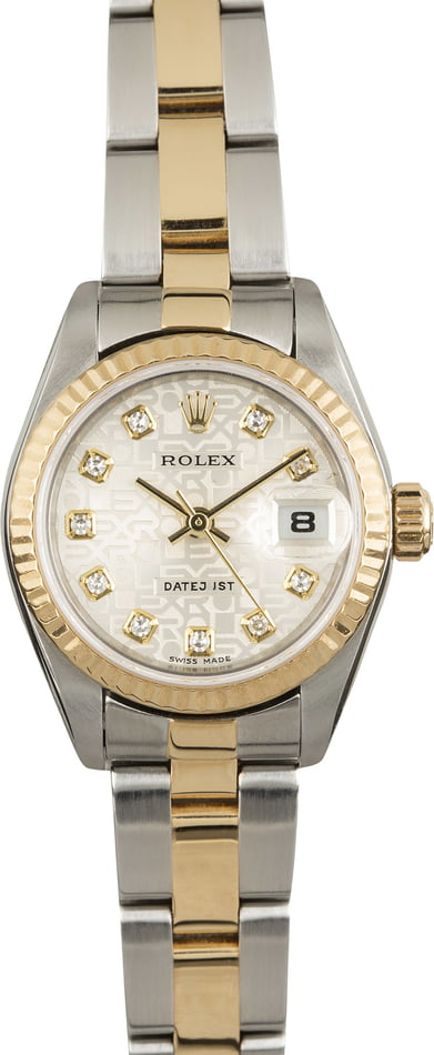 Pre Owned Rolex Ladies Datejust 79173 Silver Jubilee Dial