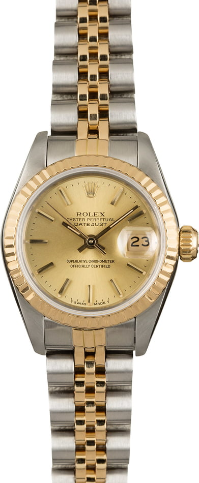 1cbe4681a76f Used Ladies Rolex Oyster Perpetual DateJust Model 69173 - Save up to ...