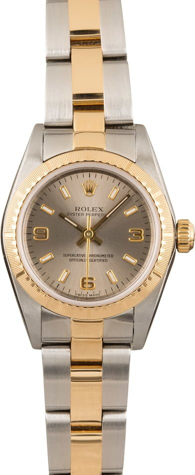 Pre Owned Rolex Lady Oyster Perpetual 76243 Two Tone Oyster