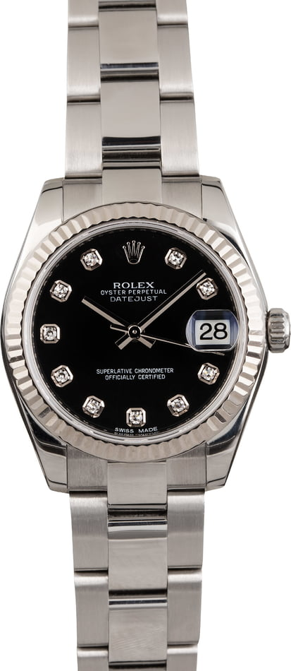 PreOwned Rolex Datejust Diamond Dial 178274